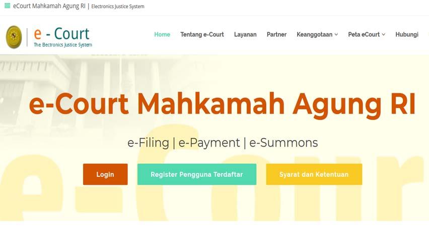Pendaftaran Perkara Melalui e-Court